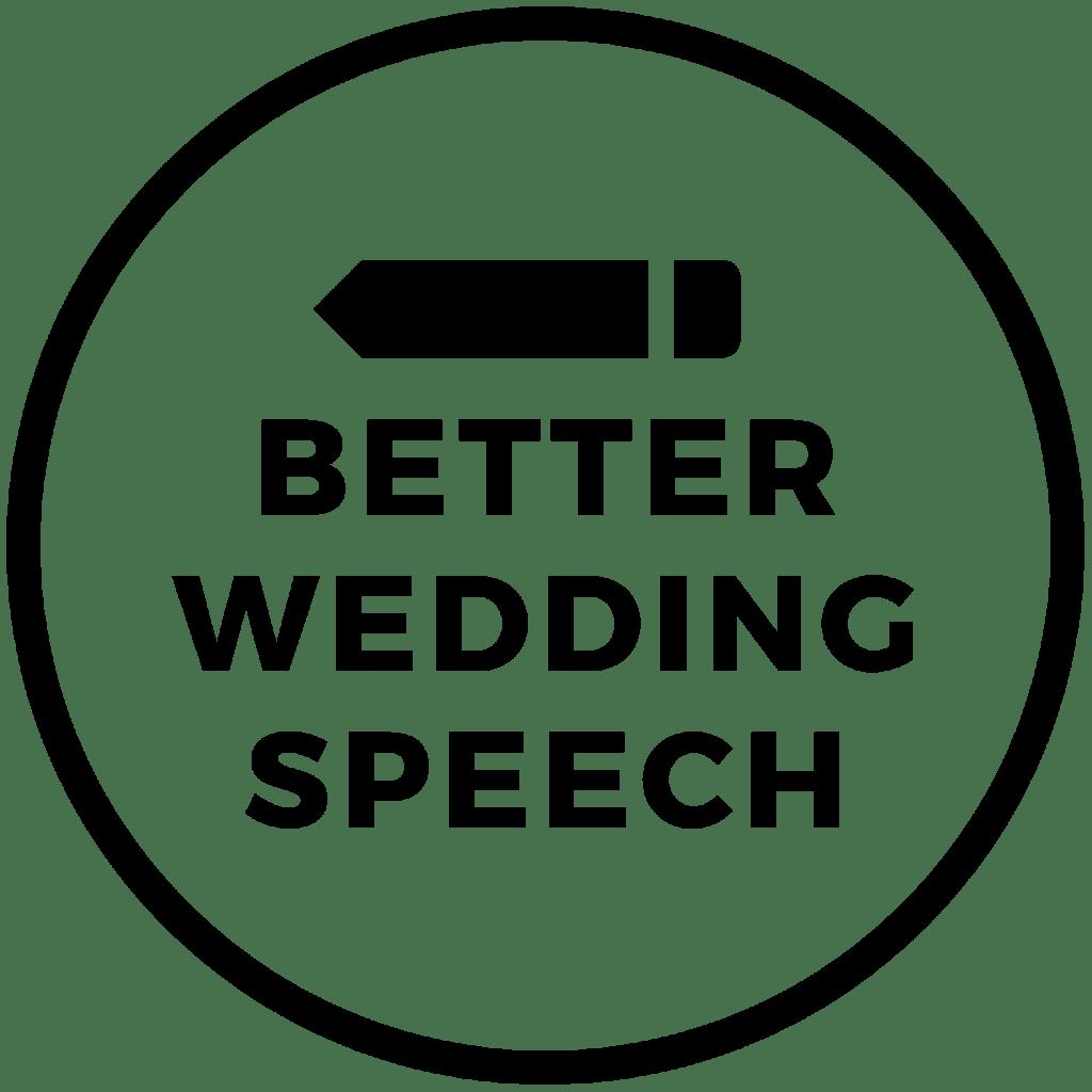 Better Wedding Speech Logo Black